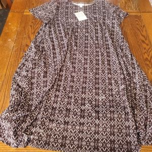 NWT lularoe 2xl black and white Jessie dress